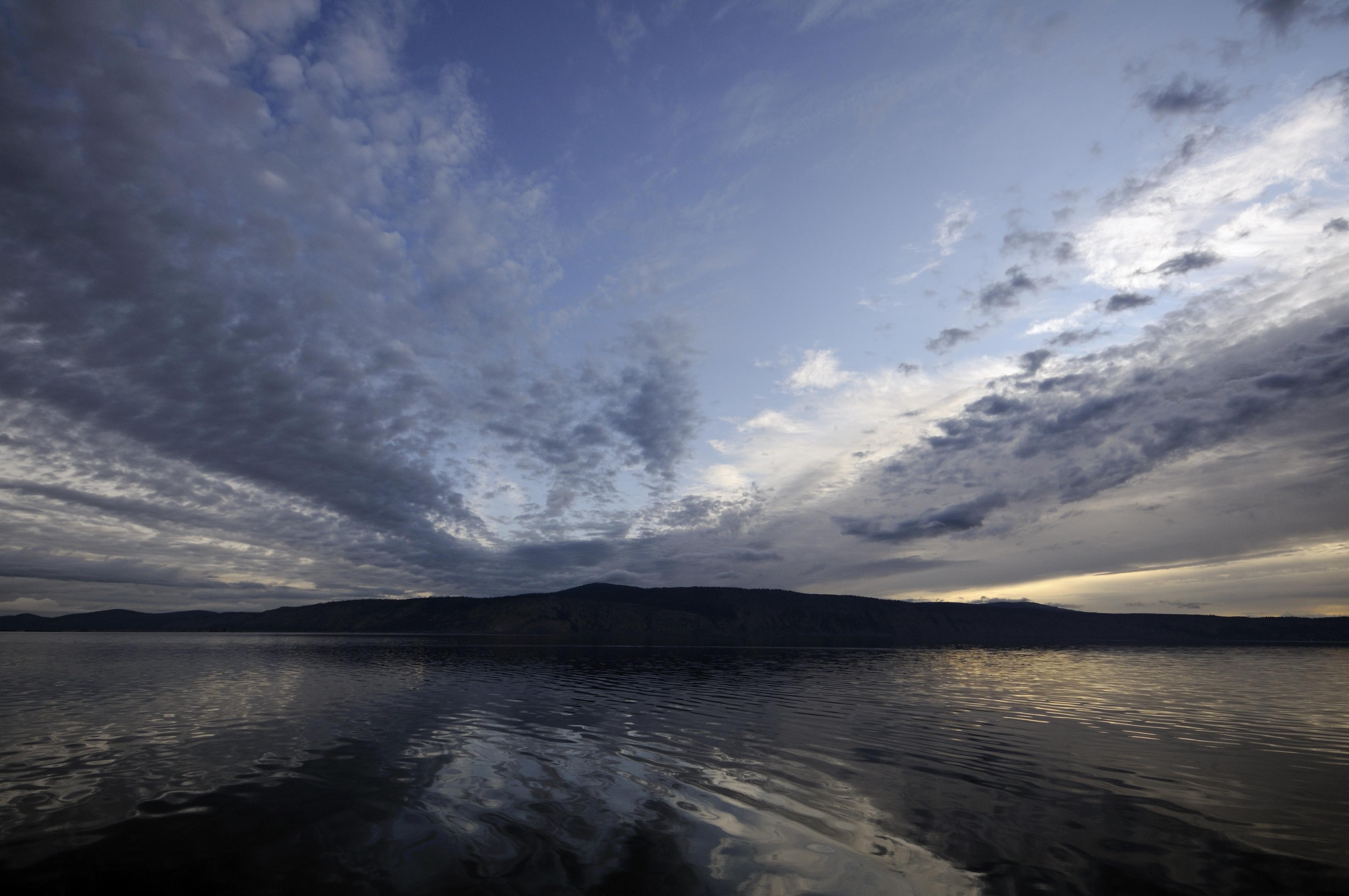levé de soleil sur le lac sacré Klamath